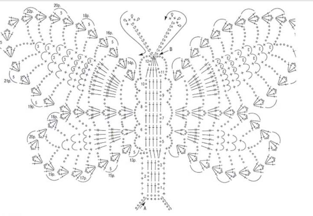 Mariposa con ganchillo XL (3/5)