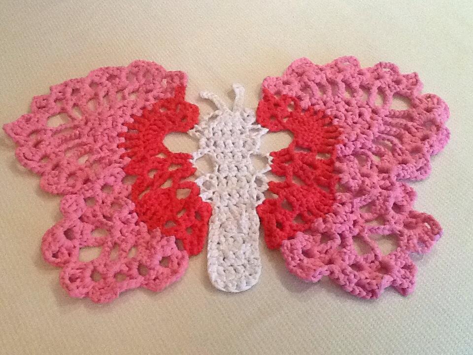 Mariposa con ganchillo XL – Rincón de colores