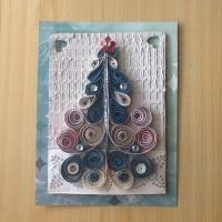 Postal navideña / Quilling