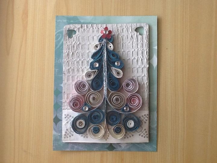 Postal navideña /Quilling