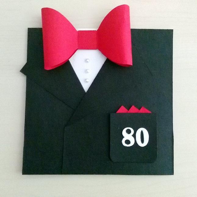 tarjeta de cumpleaños traje