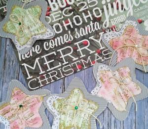 felicitación navideña scrap