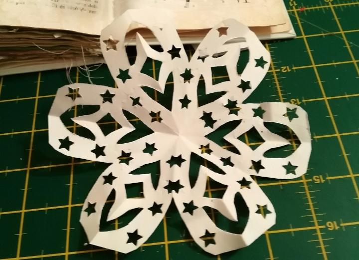 estrella navideña de papel