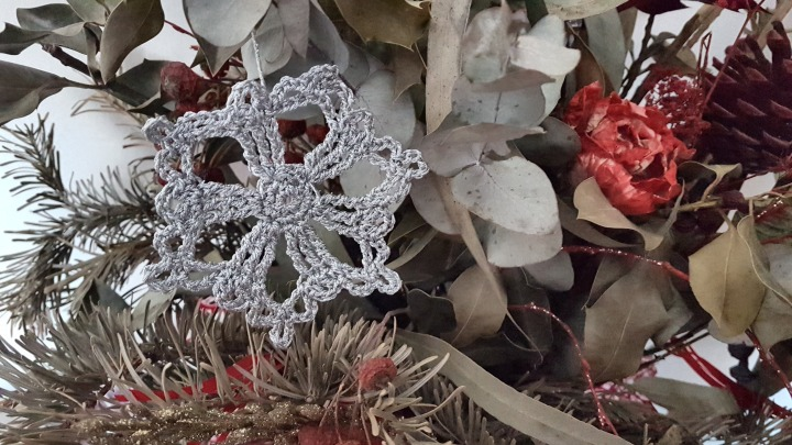 estrella de navidad a ganchillo