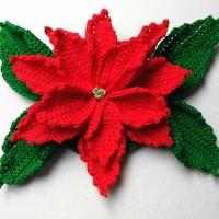 Flor de navidad, Poinsettia a ganchillo
