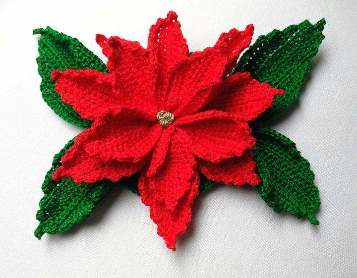 Flor de navidad, Poinsettia aganchillo