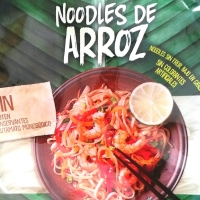 Noodles de arroz, menú diario