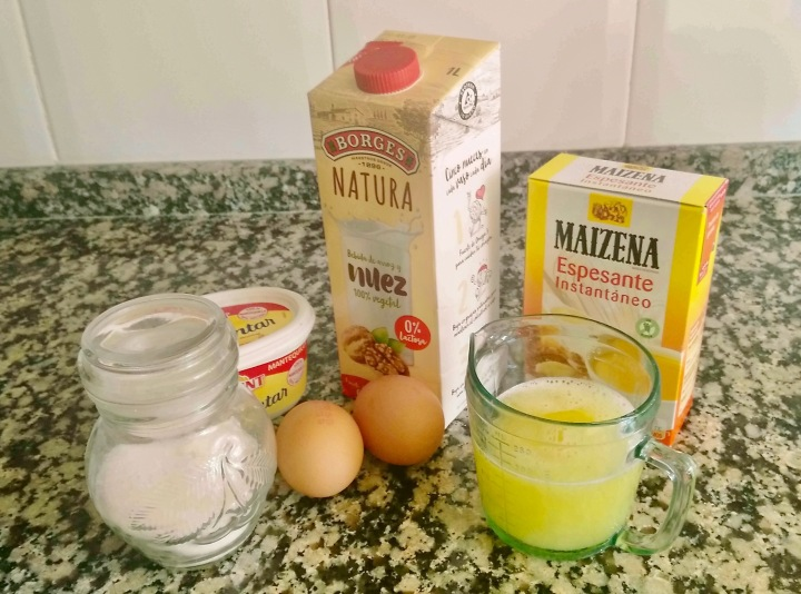 Ingredientes crema de limón