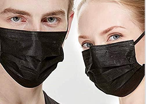 Mascarillas higiénicas negras, desechables, las más vendidas enAmazon
