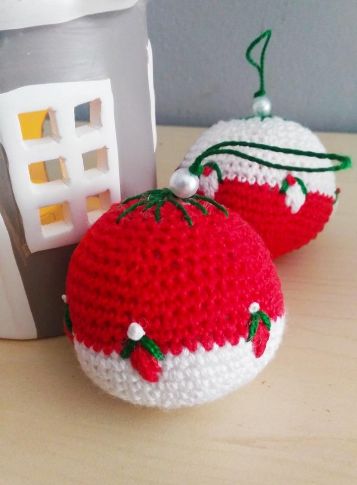 Como hacer bolas de navidad aganchillo